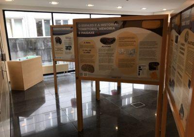 Interior da exposición na Delegación do COAG en Lugo