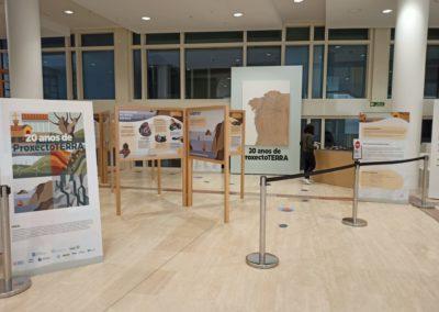 Vista xeral da entrada da exposición na Cidade da Cultura